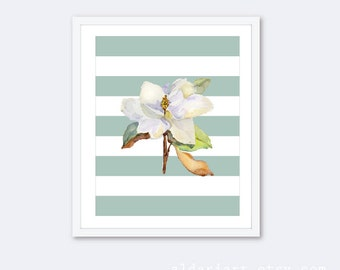 Magnolia Flower Art Print - Magnolia Wall Art - Watercolor Magnolia Art - Home Decor  - Aldari Art
