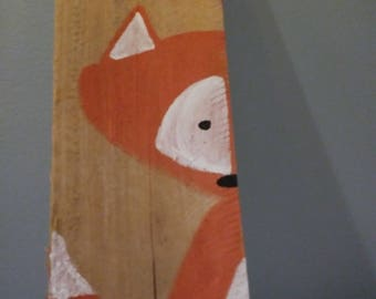Foxy Wood Block