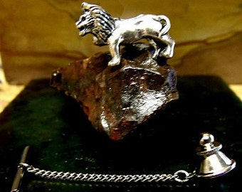 Lion Tie Tack Sterling Silver Free Domestic Shipping