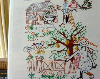 Pippi Longstocking - Embroidery Pattern PDF - Children's Story - Applique - Includes Color and Stitch Guide