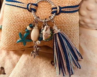 Flamenco beach bracelet