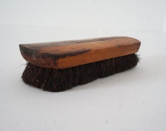 Vintage Wood and Horse Hair Boot Brush