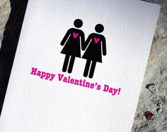 Lesbian Valentine Card - Gay Valentine's Day