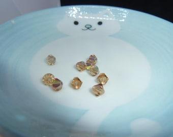 Set of 10 beads - Light COLORADO Topaz AB - SWAROVSKI 6 mm