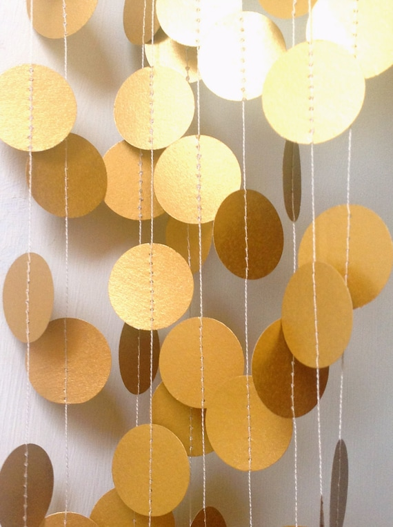 Gold Garland Paper Garland Wedding Garland Wedding