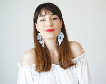 Mismatched Earrings Statement Earrings Mom Gift Boho Earrings Long Earrings Leaf Earrings Fashion Earrings/ TUBERO