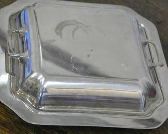 antique silver plate serving tureen