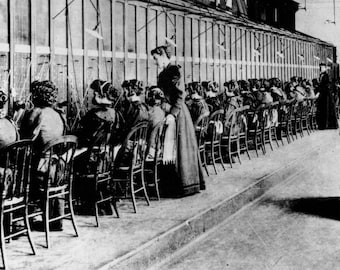 Telephone Operators in 1915 - Vintage Photo Art Print, Ready to Frame!