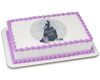 Disney Princess Cinderella Even Miracles Edible Cake Topper