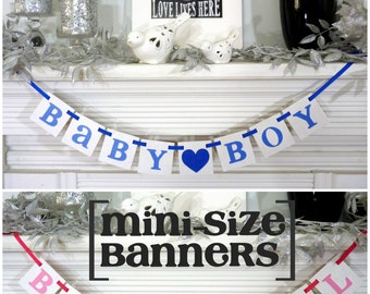 Baby Banner / Baby Boy Sign / Baby Girl Sign / Baby Shower / Maternity Photo Prop / Nursery Sign / Gender Reveal Photos / Mini Photo Prop