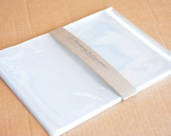 """25 Resealable Cello bags size 8 1/4""""x10 1/8"""" -Transparent Cello Bags -Self Adhesive Cello Bags -Food Safe Cello Bags -Clear Cellophane Bags"""