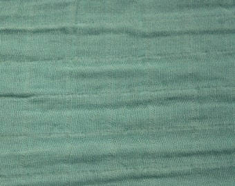 Double Gauze- Bambino Solids - Aqua - 1 Yard - Cotton Fabric / Fabric by Yard / New Fabric / Sewing Supplies / Gauze Fabric / Baby Fabric