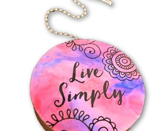 Live Simply Round Wood Fan / Light Pull
