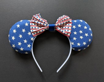 Patriotic Stars and Stripes - 4th of July Minnie Ears