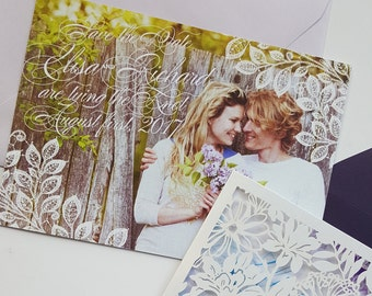 Spring Save the date cards with photo - Save the date new collection 2016 {Seville design}
