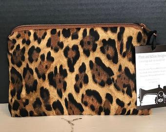 Animal Print Bag   Make-up bag, Fun bag, Money bag, Art Supply Bag, Plum & Khloe Designs Bag