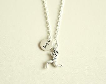 Running Necklace, Personalized Running, Runner Gift, Run Jewelry, Runner Jewelry, Marathon Completion Gift, Marathon Jewelry, Running