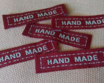 Tags Hand made sewing X 5