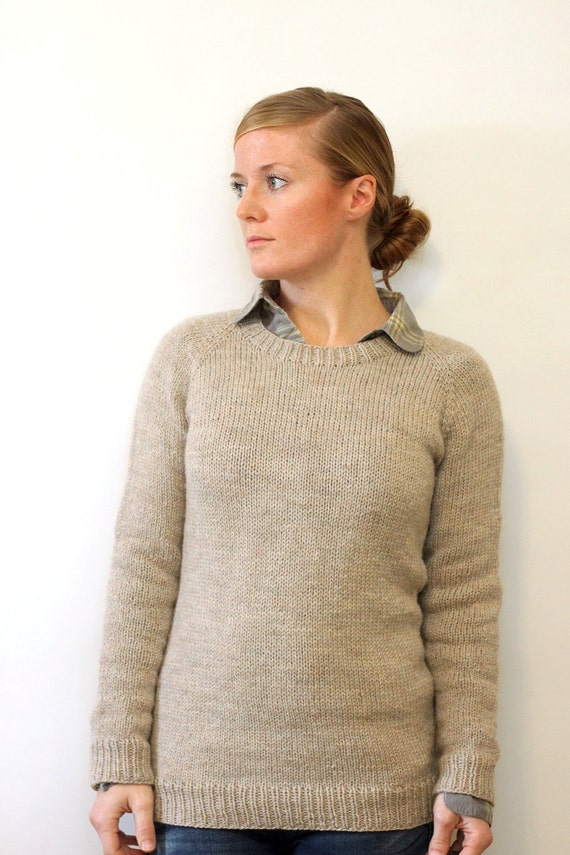 KNITTING PATTERN // Ladies Classic Raglan Pullover // top-down ...