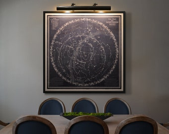 Star Map print  : Constellation Map Celestial map Star Chart Map  - Rand Mcnally Star Chart art print poster 1940s