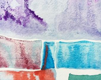 Abstract Watercolor, abstract painting, small painting, original artwork, watercolor abstract painting, art print, original print