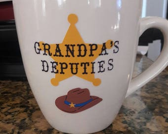 Grandpa's Deputies personalized mug