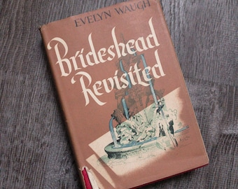 Vintage hardback book, brideshead revisited, brideshead revisited evelyn waugh, hardback evelyn waugh, vintage evelyn waugh