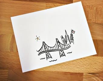 San Francisco Skyline Note Card