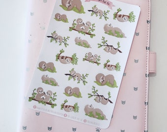 Sleepy Sloth Planner Stickers | for use with erin condren, Filofax, bullet journal, lazy day stickers, sleep stickers, sloth stickers