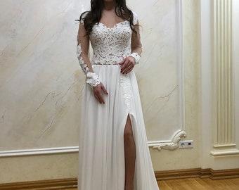Beach Wedding dress, Beach Bridal Dress Bohemian lace wedding dress, Lace wedding dress, Bohemian bridal gown, Lace bridal gown