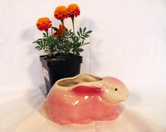 Shawnee Pink Rabbit Planter / Bunny Planter great for Baby Shower / Baby Girl's Nursery Decor