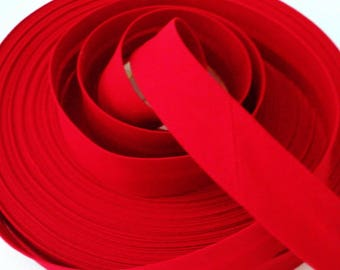 Red Bias Binding 18mm Polycotton Tape Folded