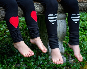 Heart Patch Leggings - Baby Leggings - Baby Joggers - toddler leggings - Valentine's Day Outfit - Girl Valentine Clothes - Toddler Pants