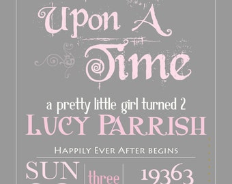 PRINTABLE Storybook Once Upon a Time Birthday invitation