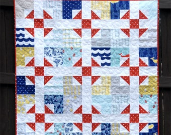 Shoo Fly Pie - Digital pdf Quilt Pattern - Baby, Lap, Twin, Queen, King Sizes - Fat Quarter Friendly