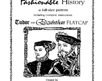 Tudor Elizabethan Flat Cap Pattern by Queta's Closet Pat. No.107