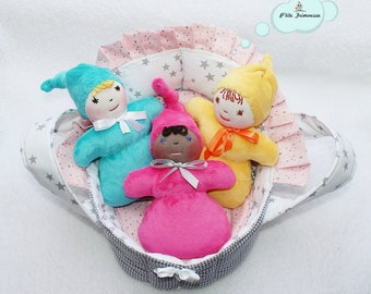 Doll Toy waldorf rattle.