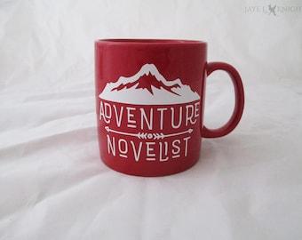 Large Writer Mug - Red Adventure Novelist - NaNoWriMo - OYAN - Camp NaNo - Young Writer - Writer Gift - Coffee Mug