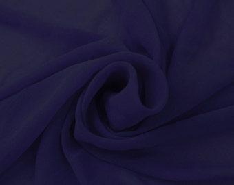 ROYAL-B Solid Hi-Multi Chiffon Washed Fabric by the Yard - Style 501