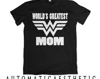 World's Greatest Mom Wonder Woman T-Shirt | Fun Gift Mother's Day