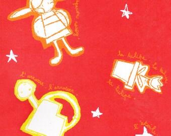fabrics motives fairy tale Red Riding Hood design