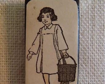 Dutch Girl with Bucket pendant