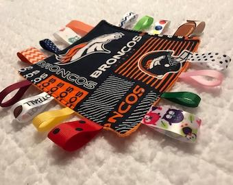 Denver Broncos Baby Sensory Crinkle Toy