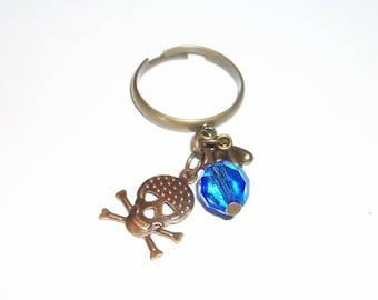 GIORGIA Rock blue and bronze ring