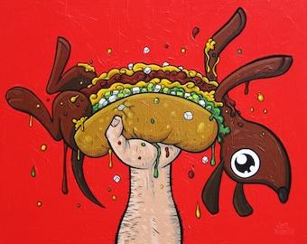 Hot Dog painting Dachshund