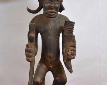 AfricanTribal Art,old chokwe tchibinda ilunga Statue from kasai region,DRC