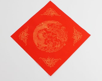 Free Shipping Chinese Calligraphy Material  34x34cm Red Xuan Paper Couplets / Square / Double Thick / / 1 Piece - 0018C
