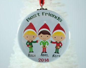 brothers christmas ornament sisters ornament best friend christmas ornament personalized christmas ornament - Best Friend Christmas Ornaments