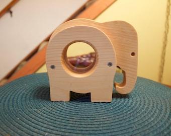 Wood Elephant Piggy Bank