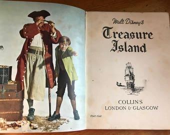 1950 Walt disney's Treasure Island book Collins London & Glasgow motion picture version great old colour photos